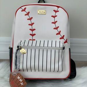 Imperfect Betsey Johnson baseball backpack
